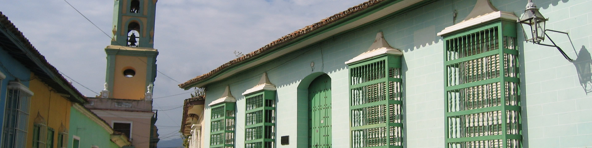 House with green shutters